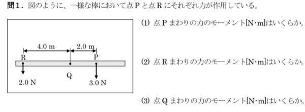 物理学でこの写真の問題解き方と答えを教えて欲しいです