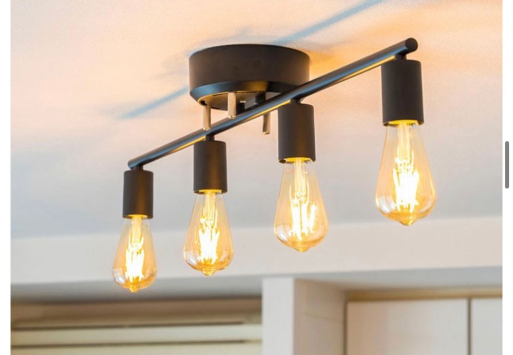 三畳の洗面室に 画像の電気を付けたいと思います 電球は E26.100v40Wまでとかいてましたが、 LED電球40w×4個は明るすぎますか?