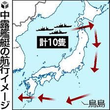 中露の艦艇10隻が日本の海峡を通過しても、日本は航空自衛隊の戦闘機が緊急発進する以上のことは出来ないのですか?