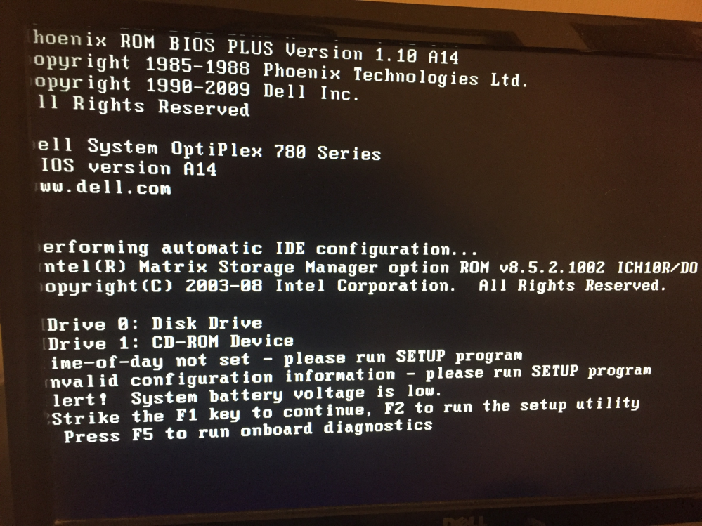 パソコンを立ち上げると毎回 hoenix rom 〜 始まる英数字が出ます F1キーで進めて使用しているのですが これはもうすぐ壊れる予兆なのでしょうか?