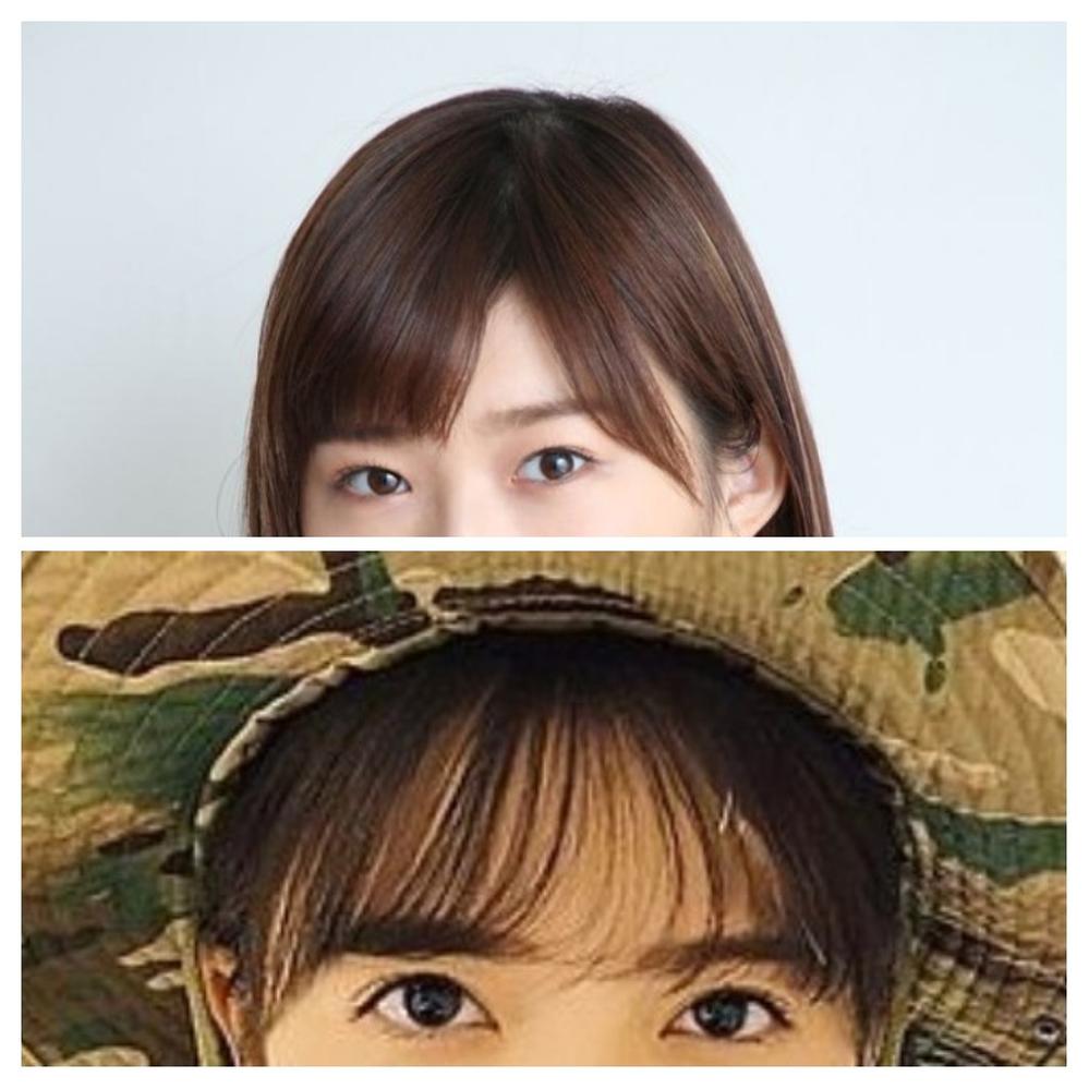 坂道&俳優、女優クイズPart40 画像の現役または元坂道メンバー&女優さんは 上下それぞれ、誰と誰でしょう?