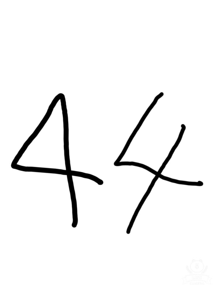 あなたが書く英数字の「4」は 左右どちらですか?