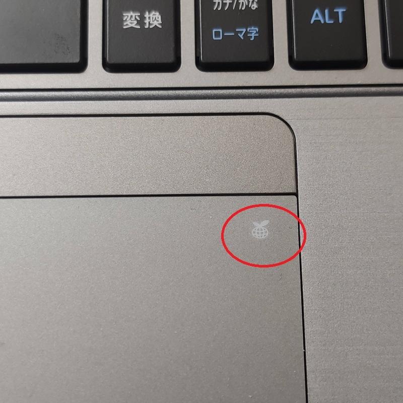 東芝ノートパソコンr63/pを中古で手に入れたのですが トラックパッド内のこの表示はどういう意味なのでしょうか?