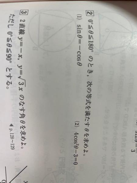 (1)のとき、どうしてcosθ=0はあり得ないのですか?