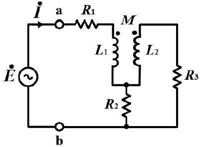この電気回路の問題を教えて下さい。 図の回路において、次の問に答えよ。 ① 閉路方程式を立てよ。 ② 求めた閉路方程式より、端子a-b間の合成インピーダンスを求めよ。