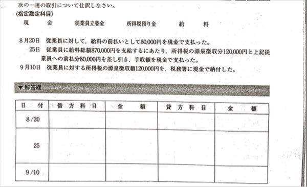 至急お願いします! この簿記の問題が分かりません。 優しい方、回答お願いします。できれば、解説もあるとありがたいです。 (画像URL) https://share.icloud.com/photos/0YA8g5vtEAdQtCGSCjd9z5mNg よろしくお願いします!