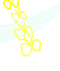 美術の授業でモダンテクニック をしています。 スパッタリングやフロッタージュ....などを やりました。 それで今度はモダンテクニックを色々使い 工夫して一つの絵を書きましょうといわれました。 たとえば、吹流しで花火を作って、下の方に海を書くのに 水をマーブリングであらわす・・というような感じです。  私はテーマは川をマーブリングであらわし、 うその上に蝶(スパッタリング)...