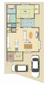 間取り 北側玄関 今度家を新築することになり、間取りを考えています みなさまの意見を聞かせてください  北側道路・玄関の間取りなのですが、土地37坪建坪が30坪で考えています  希望としては ①和室とLDK...