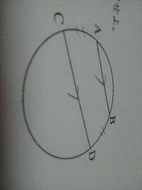 数学です! 下の画像をみてください!    AB平行CDのとき、  弧AC=弧BDとなることを  証明せよ。   この証明のかきかた  おねがいします!
