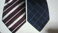 最終面接で使うネクタイ  どちらのネクタイが良いと思いますか?  スーツはシャドーストライプの紺色、シャツは白です。