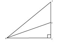 次の数学の証明問題の答えを教えてください。難問らしいです。  ∠C=90度の直角二等辺三角形ABCの∠Bの二等分線と辺ACとの交点をDとするとき、BC+CD=ABであることを証明しなさい。