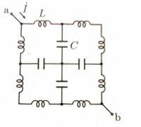 電気回路(対称回路)についての質問です。 図のような回路で、キャパシタの静電容量を全てC、インダクタンスはすべてLである。端子対a-bに起電力E、角周波数ωの交流電圧を印加している時、電流 I (←ドットが付いていると考えてください) を求めよ。   私なりにやってみた手順を書きます。  まず、対称であるということを考え、同電位の点を探す。点a から分流する電流をi1、そこからさら...
