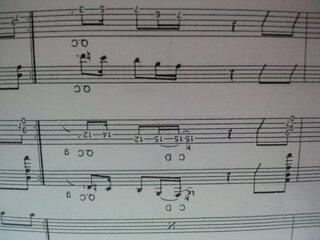 I LOVE ROCK N',フレーズ,Q.C,記号,楽譜通り,グリスダウン,4音チョーク