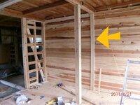 大工さんお願いします。和室の押し入れの壁を作りたいのですが、間柱に45×45の角材でもいいのですか? 柱は105×105です。 柱に45×30を考えてます。http://www5.ocn.ne.jp/~kirabon/cotentu.html