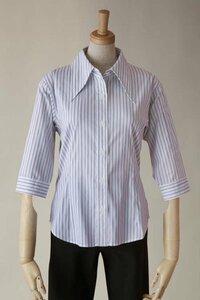 ストライプ柄のYシャツに脇汗染み…。    仕事柄、ストライプのYシャツを着用してるのですが、脇汗がヒドく(特に右脇)、黄ばみが…。    普通の 白Yシャツならハイターなどの漂白剤で簡単に落とす事出来ると思う...