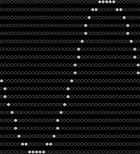 C言語プログラミングに詳しい方への質問 prinntf文を使って円を描くプログラムと市松模様のグラフが作成したいのですが、なかなかうまくできずに失敗しています。  #includeは<stdio.h>と<math.h>の...