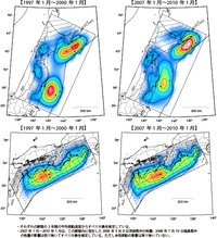 南海トラフ沿いの駿河湾~宮崎沖のエリアで、 比較的大きな地震が約20年間隔で繰り返すところはどこですか?  また、それはなぜですか?