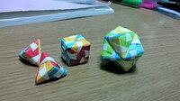 このような折り紙の作り方を教えて下さい。  自分でも調べたのですが、「ユニット折り紙」というものしかヒットしませんでした。ユニット折り紙ではありません。 恐らく手裏剣の派生だったような気がします。