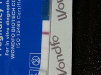 妊娠検査薬(wondfo)の結果について。 妊娠検査薬の結果について、お伺いしたいです。  産婦人科でタイミング指導を受けております。  7日にタイミングを取り、8日に排卵しているか様子を見て頂いた所、まだ排...
