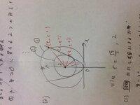 辞書によると「接する」とは数学で、曲線や直線が他の曲線や直線などと交差することなしに一点だけを共有するとあるのですが①と②は放物線と接しているというのでしょうか?