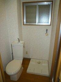 トイレと洗濯機置き場が同室にある物件にお住まいの方 この2つが同じということに、最初抵抗ありましたか?  ↓こんな感じの所です。