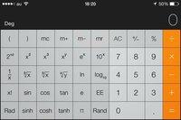 iPhoneの電卓でルートの計算をしたいんですが、どうやってやるんですか?