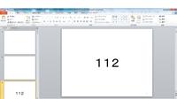 パワーポイント2010で、真ん中に大きく数字を描いたスライドを 1~1万まで自動で作る方法を教えてください。