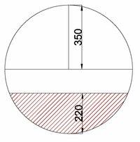 断面積の求め方を教えて下さい。  画像の赤のハッチング部分の面積を求めたいです。 教えて下さい。