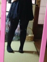 制服このスカート丈って、短くしすぎですか??