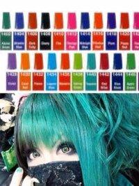 派手髪をマニパニを使ってやろうと思います。この色に一番近い色はどれですか?