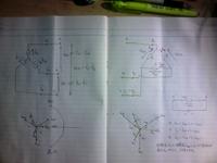 対称三相交流で電源が△、相電圧E,線間電圧V、負荷側はY結線で抵抗負荷の場合、負荷に供給する線電流Iに対して、負荷側の相電流Ipとの位相差は30°進みであることは添付のベクトル図から解った気がするのです...