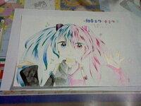 色鉛筆で描いた初音ミクの絵です!感想を教えてください!  小学6年生です。オリジナルの絵です。  (「桜ミク」と書こうと思ったのに「春ミク」と書いてしまいました…)