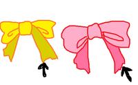 綺麗なリボンの結び方を教えてください。どうしても綺麗にできません。 結び方の記載があるサイトがあれば教えてください。  添付の画像の右(ピンク)のように、輪が前に出るように結びたいです。 どうしても左(黄色)のように、片方の端が輪の前に出てしまいます。 リボンの結び方を検索していくつか見たのですが、 綺麗に結ぶ方法でも左(黄色)のように片端が輪の前に出てしまうものばかりで…。 ...