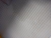 ユニットバスのカラリ床が写真の様に汚れてなかなか落ちません。良い方法はありますか?