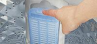 洗濯機のこのタイプのフィルターのメリットは何ですが?通常のネット状のものとは何が違いますか?