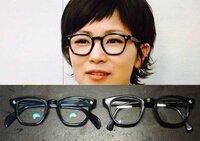 下の画像で椎名林檎かけているメガネのブランドと型を教えてください。 よろしくお願いします。