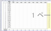 Sheet1の セルCにはファイルの名前を入力しています。 セルAには棚番号、セルBには段数を入力しています。 セルFには=A&Bを入力しています。 例 Sheet1 A3 T011(棚番号) B3 1(段数) C3 sdfgsi(ファイル名) F3 T0111  C3のsdfgsiというファイルは T011棚の1段目にあるという意味の表示です。  このデータ...