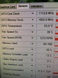 GTX950のメモリクロックについて 玄人志向のGTX950を使っているのですが、GPUZで見てみたらメモリクロックが1652.4MHzでした。  サイトで見てみると玄人志向GTX950のメモリクロックは6610MHzでした。  なぜ低いのでしょうか? 原因わかる方いたら教えて欲しいです!