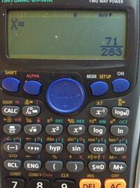 casio 関数電卓 fx-375ESについて。二元一次連立方程式を解いた解が分数で出てくるのを小数に変換したいのですが方法がわかる方教えてください。