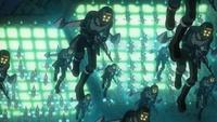 「宇宙戦艦ヤマト2199」に出てくるガミロイドと将来のロボット工学について質問です。  「ガミロイド」とは、ガミラスで運用されているアンドロイド兵で、各個体同士が意思疎通を行う自律型である。 体組織は、ナノマシンで構成された人工オルガネラから作られており、金属製のアナライザーとは対照的に俊敏に動けることができるという設定だが、ここで質問です。 ガミロイドのようにナノマシンで構成された人...
