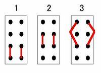 スイッチの回路・接点について教えてください。 基板上にスライドスイッチがあります。 3ポジションの切り替えスイッチです。 画像は端子側から見た図です。 スイッチのポジションによって図の様に導通してい...
