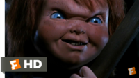 チャイルドプレイ2の、チャッキーがアンディの義父を階段で殺すシーンで、チャッキーが「How's it hunging Phil?」と言っていましたが、この発音をカタカナで書いてください! なるべく映画のシーンと近くでお...
