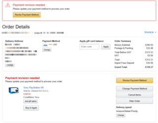 Amazonukで買い物をしたのですが Paymentrevision Yahoo ǟ¥æµè¢‹
