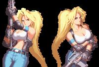 ゲームやアニメキャラに関する質問です  この画像のキャラのような巨乳で銃が武器の女性キャラをたくさん教えてください。  作品名とキャラクター名の両方を書いていただけるとありがたいです。 よろしくおね...