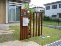 画像の様な木の門柱?はどの様に施工するのでしょうか? また土に埋めて腐らないのでしょうか? プロ方など詳しい方おられるなら教えてください