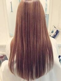 こう言う髪型にするのって、スキバサミでカットすればいいですか?(現在 毛先パッツンです)