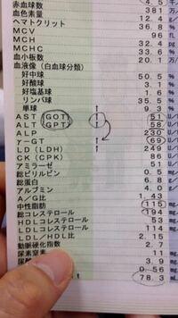 肝臓 数値 検査 高い 血液