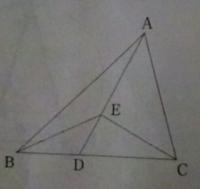 三角形の面積比についての質問です。 下図のように、三角形ABCの辺BC上に点Dがあり、BD:DC=2:3、線分AD上に点Eがあり、AE:ED=2:1である。このとき、三角形ABEと三角形BCEと三角形CAEの面積比はどれか。 1)3:4:5 ...