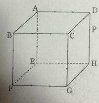 図は立方体の見取図で点PはDHを3等分している点 である。辺上の各点もそれぞれの辺を3等分している。この立 方体を3点A,P,Gを通る平面で切ったとき,その切り口の図形の辺を右の図にかき入れよ。  解答解説及び図形をお願いします。