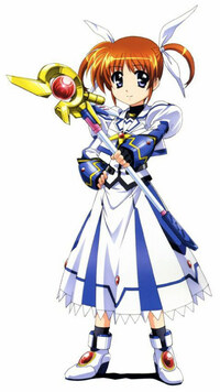 白いリボンを付けた女性アニメキャラ、1番好きなキャラクターは誰ですか?  *僕は魔法少女リリカルなのはシリーズの高町なのはです~(≧∇≦)